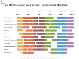 Six Months Mobility As A Service Transformation Roadmap