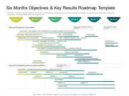 Six Months Objectives And Key Results Roadmap Timeline Powerpoint Template