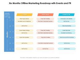 Six Months Offline Marketing Roadmap With Events And PR