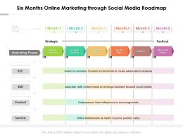 Six Months Online Marketing Through Social Media Roadmap