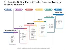 Six Months Online Patient Health Progress Tracking Nursing Roadmap