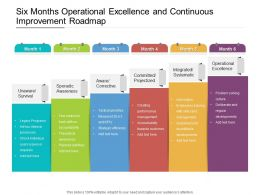 Six Months Operational Excellence And Continuous Improvement Roadmap