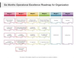 Six Months Operational Excellence Roadmap For Organization