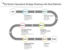 Six Months Operational Strategy Roadmap With Goal Definition