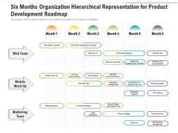 Six Months Organization Hierarchical Representation For Product Development Roadmap