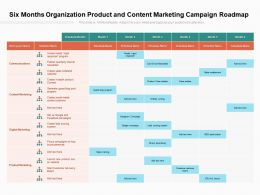 Six Months Organization Product And Content Marketing Campaign Roadmap