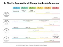 Six Months Organizational Change Leadership Roadmap
