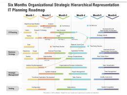 Six Months Organizational Strategic Hierarchical Representation IT Planning Roadmap
