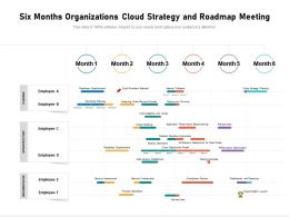 Six Months Organizations Cloud Strategy And Roadmap Meeting