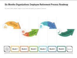 Six Months Organizations Employee Retirement Process Roadmap