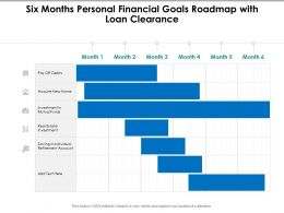 Six Months Personal Financial Goals Roadmap With Loan Clearance