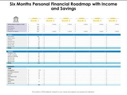 Six Months Personal Financial Roadmap With Income And Savings