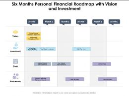Six Months Personal Financial Roadmap With Vision And Investment
