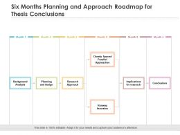 Six Months Planning And Approach Roadmap For Thesis Conclusions