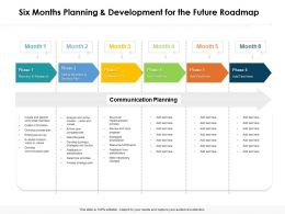 Six Months Planning And Development For The Future Roadmap