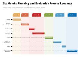 Six Months Planning And Evaluation Process Roadmap