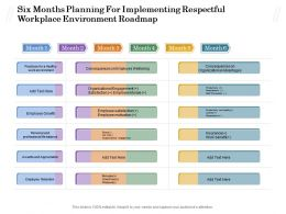 Six Months Planning For Implementing Respectful Workplace Environment Roadmap