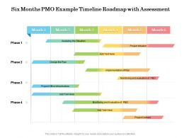 Six Months PMO Example Timeline Roadmap With Assessment