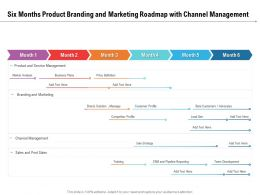 Six Months Product Branding And Marketing Roadmap With Channel Management