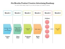 Six Months Product Creative Advertising Roadmap