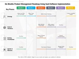 Six Months Product Management Roadmap Using SaaS Software Implementation