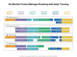 Six Months Product Manager Roadmap With Sales Training