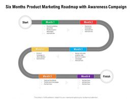 Six Months Product Marketing Roadmap With Awareness Campaign