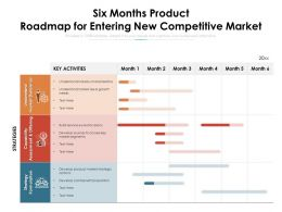 Six Months Product Roadmap For Entering New Competitive Market