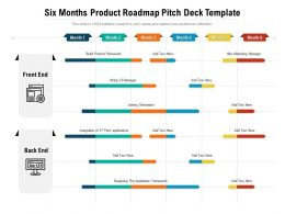 Six Months Product Roadmap Pitch Deck Template