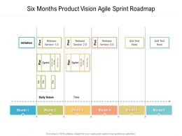Six Months Product Vision Agile Sprint Roadmap