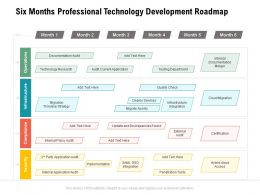 Six Months Professional Technology Development Roadmap