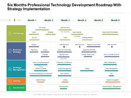 Six Months Professional Technology Development Roadmap With Strategy Implementation