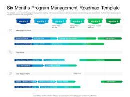 Six Months Program Management Roadmap Timeline Powerpoint Template