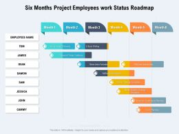 Six Months Project Employees Work Status Roadmap