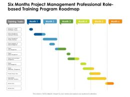 Six Months Project Management Professional Role Based Training Program Roadmap
