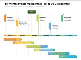 Six Months Project Management Task To Do List Roadmap
