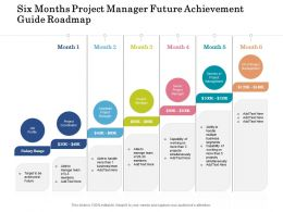 Six Months Project Manager Future Achievement Guide Roadmap