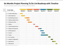 Six Months Project Planning To Do List Roadmap With Timeline