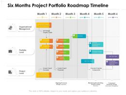 Six Months Project Portfolio Roadmap Timeline