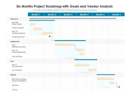 Six Months Project Roadmap With Goals And Vendor Analysis