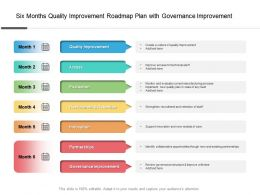 Six Months Quality Improvement Roadmap Plan With Governance Improvement