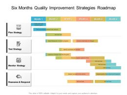 Six Months Quality Improvement Strategies Roadmap