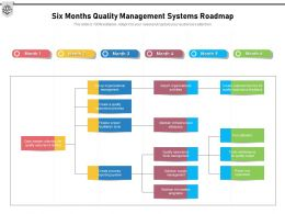 Six Months Quality Management Systems Roadmap