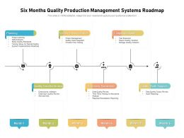 Six Months Quality Production Management Systems Roadmap