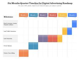Six Months Quarter Timeline For Digital Advertising Roadmap