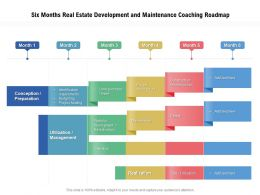Six Months Real Estate Development And Maintenance Coaching Roadmap