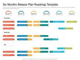 Six Months Release Plan Roadmap Timeline Powerpoint Template
