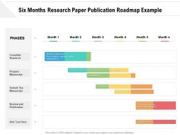 Six Months Research Paper Publication Roadmap Example