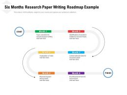 Six Months Research Paper Writing Roadmap Example