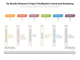 Six Months Research Project Prioritization Framework Roadmap